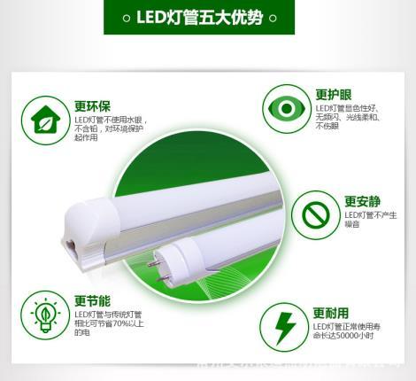 1.2米超亮一体化日光灯管LED超级光管