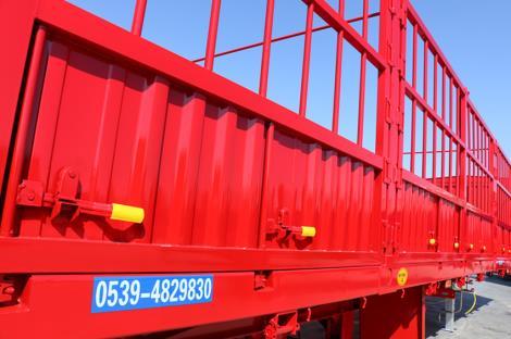 5.6吨 直梁 对开门 高强钢轻型半挂车